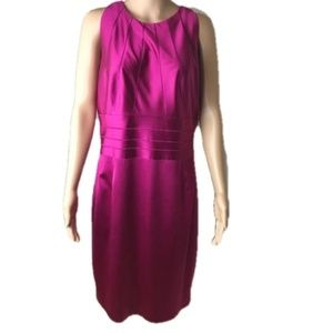 Kay Unger magenta sleeveless cocktail dress, 14